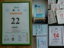 Robie na zamowienie kartki z kalendarza ,dyplomy,podziekowania dla rodzicow itd