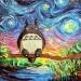 Totoro w stylu Van Gogh'a.
