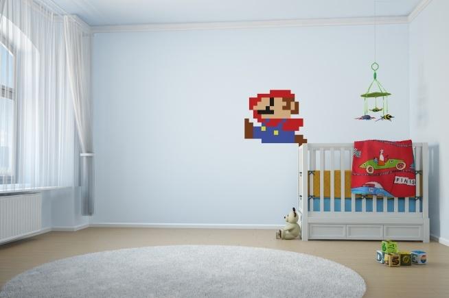 kolekcja naklejek Myloview RETRO VIDEO GAMES - Mario