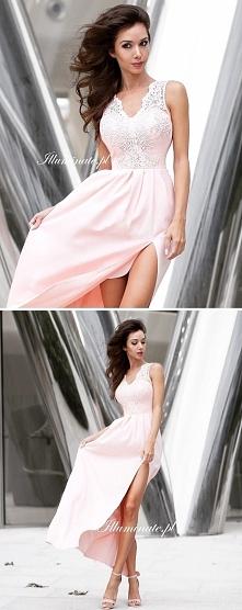 Przepiękna długa suknia z k...