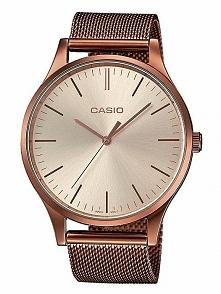 Casio LTP-E140R-9AEF kobiecy zegarek zasilany baterią, wykonany ze stali szla...