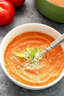 Zupa z pieczonych pomidorow. Super latwa i przepyszna!