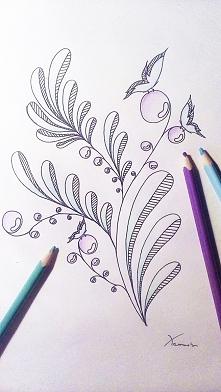 Gałązki z owocami i motylkami zrobione w wolnej chwili. Co sądzicie?