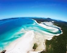 plaża whitehaven,Australia-jest jedną z najpiękniejszych i najczystszych plaż na świecie.
