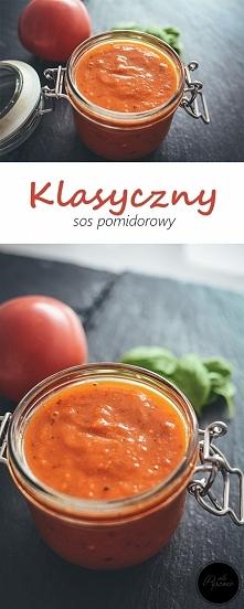 Klasyczny sos pomidorowy. Kliknij w zdjęcie i zobacz przepis.