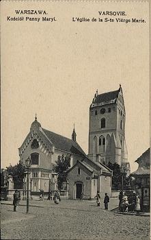 kościół Panny Maryi - Warszawa przedwojenna