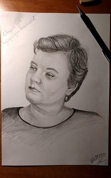 Portret mojej ukochanej Mamy, dziękuję jej za wszystkie wspaniałe lata mojego dzieciństwa.