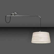 Lampa wisząca  MAGMA 00-0264-21-82 La Creu   Magma to elegancka lampa w dwóch rozmiarach oraz dwóch kolorach bawełnianego abażura: białym oraz czarnym. Abażur umieszczony jest n...