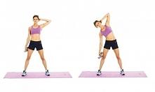trening brzucha stojąc
