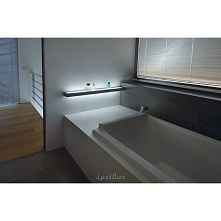 SPOTLINE FLAT 121 157192 Kinkiet- półka ALUMINIUM     Oprawa może być stosowana zarówno jako kinkiet, jak i półka pod lustro. Maksymalne obciążenie to 15kg