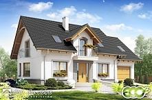 Projekt stylowego domu z poddaszem użytkowym, Dom Dla Ciebie 1 w3 z garażem - projekt dostępny w 3 wersjach kolorystycznych.