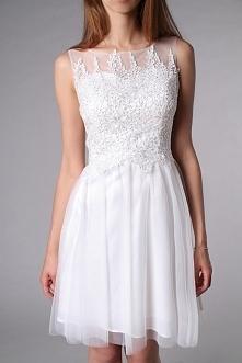 suknia ślubna w wersji mini...