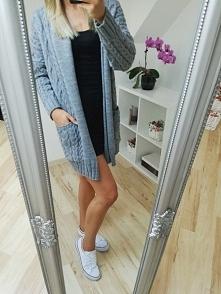 Szary sweterek na chłodniejsze dni  :)