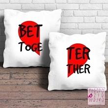 Komplet 2 poduszek Better Together Dzień Chłopaka