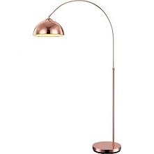 58227C NEWCASTLE PODŁOGOWA MIEDŹ GLOBO  Piękna ponadczasowa lampa stojąca z wysięgnikiem, w kolorze miedzianym.  Klosz lampy podłogowej okrągły, całość wykonana ze stal.
