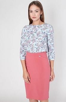 Click Fashion Izamal spódnica malinowa Elegancka ołówkowa spódnica, wykonana ...