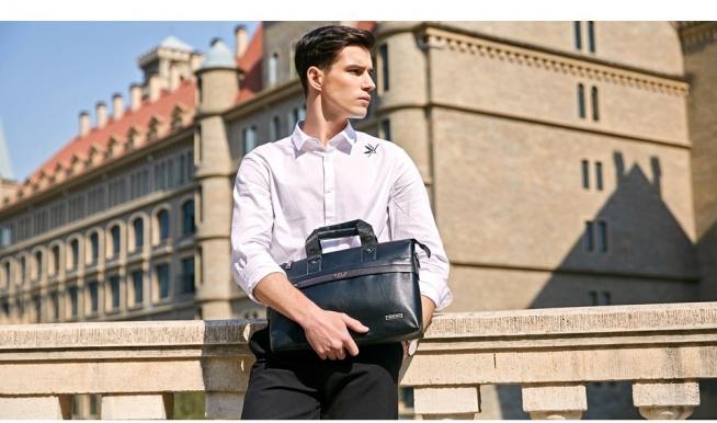 Duża, elegancka męska torba biurowa, idealna na laptopa. Kliknij w zdjęcie i zobacz gdzie kupić!