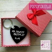 """Breloczek serce """"Na zawsze razem"""" - w pudełeczku Dzień Chłopaka, Walentynki"""