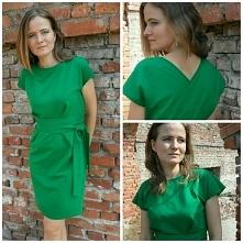 Zielono mi. Sukienka uszyta...