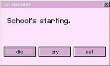 school's starting