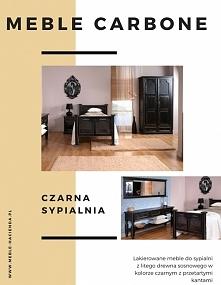 meble Carbone stylowe meble w czarnym kolorze do sypialni