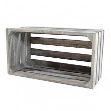 Drewniana skrzynka - popielata (BOX 32/17/16)