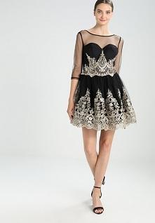 Czarno-złota sukienka koktajlowa Chi Chi London RYANNE,