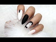 TUTORIAL , zapraszam ! :)BLACK AND WHITE NEGATIVE SPACE NAILS | MARBLE NAILS ...