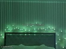 Oświetlenie sypialni zrealizowane przy użyciu zestawów Kryształowe Kule oraz Kryształowy Pył firmy E-Technologia.  e-technologia.pl