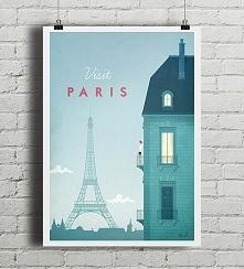 Paryż - vintage plakat