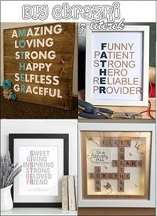 Obrazki tworzone z liter  4 propozycje: dla mamy, dla taty,dla siostry oraz n...