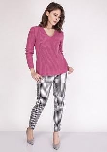 MKM Victoria SWE 123 sweter różowy Elegancki sweter, sweter wykonany z miękki...