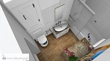 Projekt rustykalnej łazienki w mieszkaniu - zapraszamy!