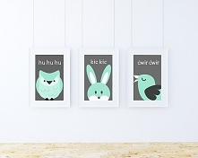 3 plakaty / SOWA, KRÓLIK, P...