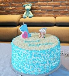 Samodzielnie wykonany tort na urodziny synka przepis po kliknięciu w zdjęcie)