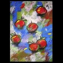 Jabłka 35 - rysunek pastelami
