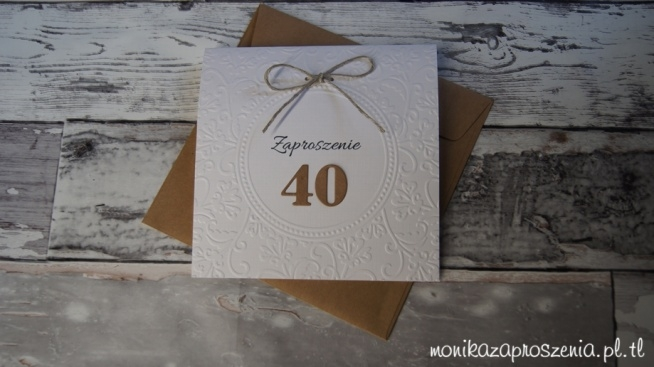 Rustykalne zaproszenia urodzinowe