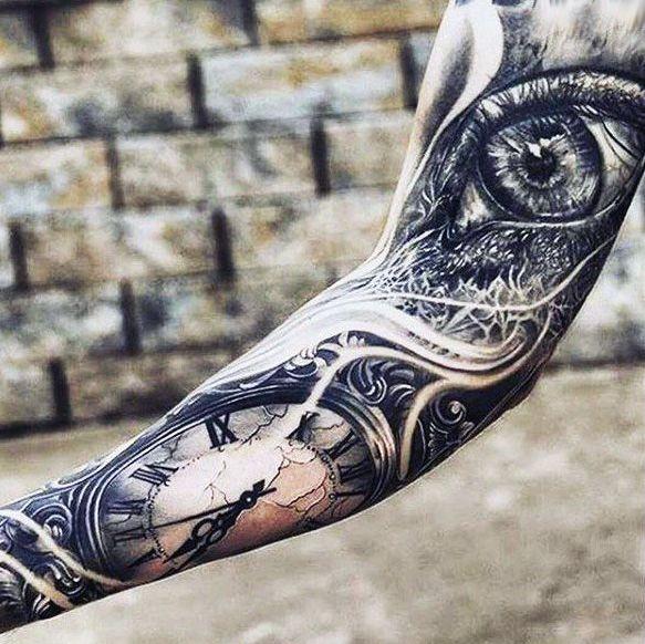 Zegar I Oko Tatuaż Na Tatuaże Zszywkapl