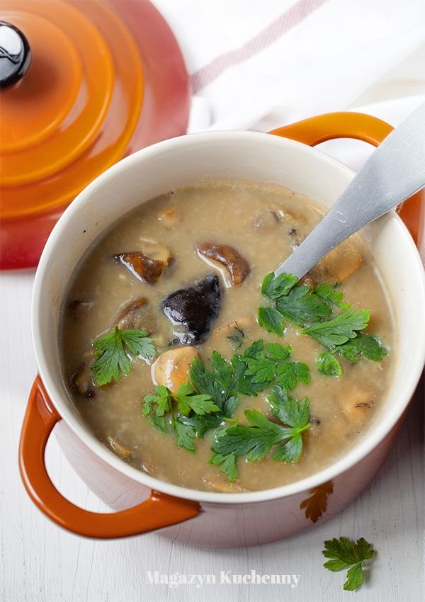 Zupa ze swieżych grzybów. Przepis po kliknięciu w zdjęcie.