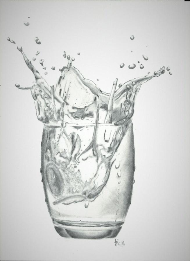 3D ?? dzisiejsza praca - nie wiedziałam, że tak trudno narysować wodę :/ chyba muszę zainwestować w sprzęt lepszy  my drawing. Wyk. ołówek
