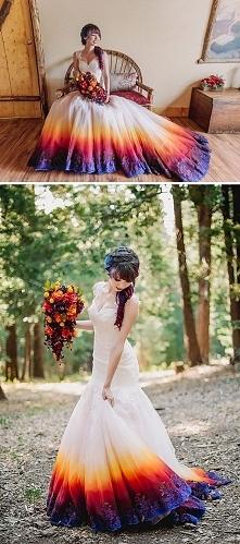 Nieco weselsza suknia ślubna