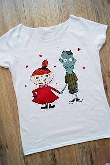 Ręcznie malowana koszulka wykonana na zamówienie :) Zapraszam na fb: luludiy ...
