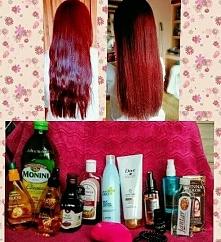 moja pielęgnacja włosów ❤ 1. olejuje przed każdym myciem 2. nakładam odzywki ...