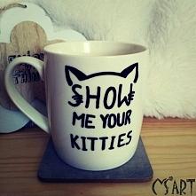 Kubeczek dla miłośników kotków:) zapraszam na ms.art.rekodzielo na facebooku.