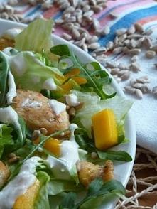 Sałatka z kurczakiem i mango( lub ananasem)
