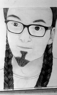 Portret trochę zmodyfikowany dwoma warkoczami ^^