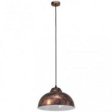 TRURO 2 49248 EGLO Lampa wisząca MIEDŹ     Oprawa z serii VINTAGE. Wykonana z metalu w kolorze miedzianym. Oprawa doskonała do wnętrz w stylu vintage, industrialnym oraz wielu i...