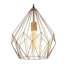 CARLTON 49258 EGLO Lampa wisząca  Oprawa z serii VINTAGE. Wykonana z metalu w kolorze miedzianym. Oprawa doskonała do wnętrz w stylu vintage, industrialnym oraz wielu innych.