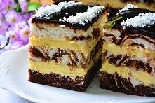 Łaciate ciasto z masą serni...
