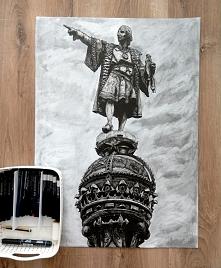 koniec ! prawie 35 godzin pracy Krzysztof Kolumb w Barcelonie format B2